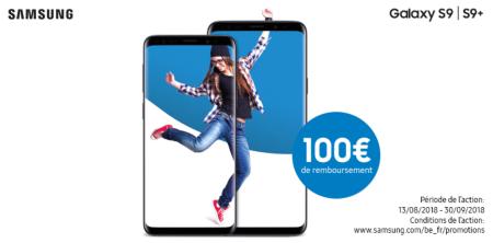 Samsung Galaxy S9(+) - €100 cashback