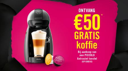 Dolce Gusto - €50 gratis koffie