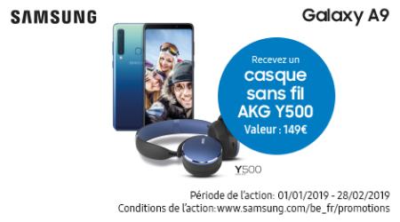 Samsung Galaxy A9 - Casque cadeau