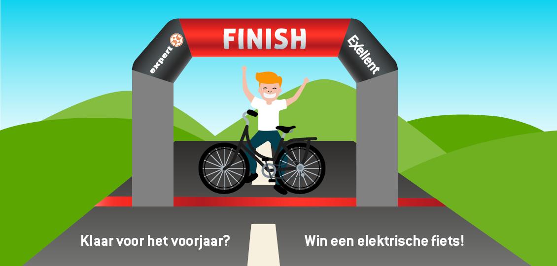 Maak kans op 1 van de 8 elektrische fietsen