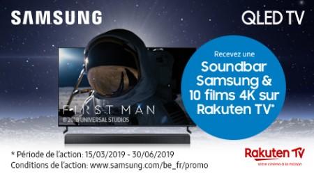 Samsung QLED - Soundbar et/ou vouchers cadeau