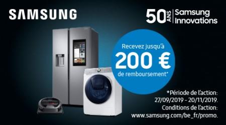 Samsung - Jusquà €200 cashback