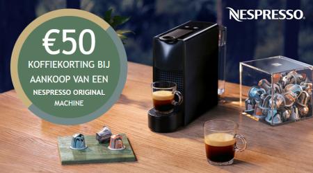 Nespresso - €50 koffiekorting