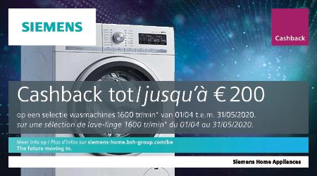 Siemens - Tot €200 cashback