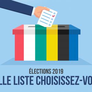Elections 2019: nos listes électorales