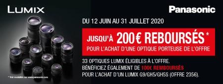 Panasonic Lumix - Jusquà €200 cashback