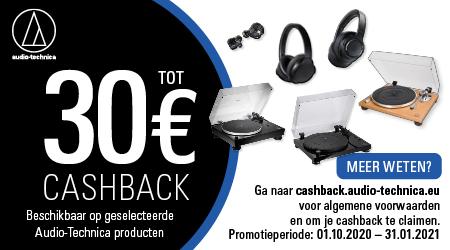Audio-Technica - Tot €30 cashback