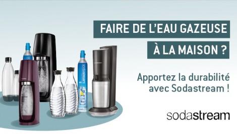 Faire de l'eau gazeuse à la maison? Apportez la durabilité avec sodastream!