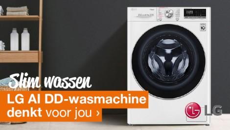 Slim wassen LG AI DD wasmachine denkt voor jou