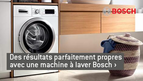 Des résultats parfaitement propres avec une machine à laver Bosch