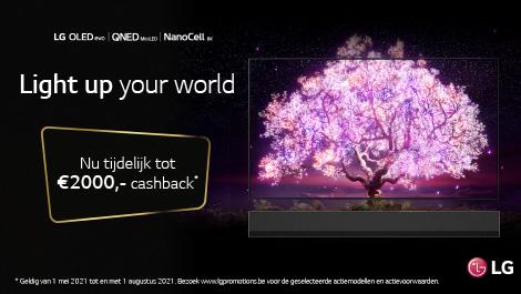 LG nu tijdelijk tot €2000 cashback