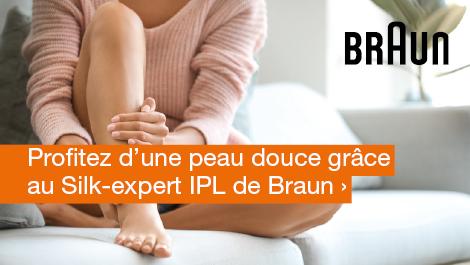Profitez d'une peau douce grâce au Silk-expert IPL de Braun