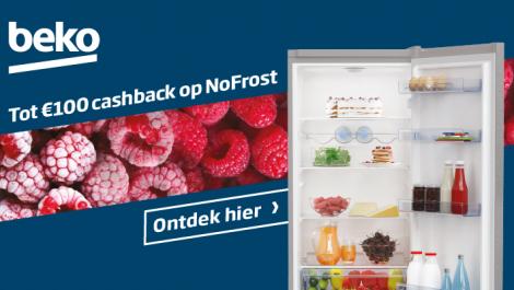 Beko Tot €100 cashback op NoFrost