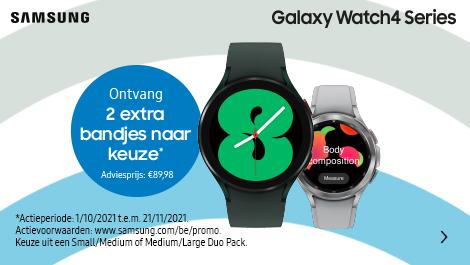 Samsung Galaxy Watch4Series ontvang 2 extra bandjes naar keuze