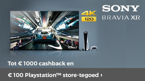 Sony bravia tot €1000 cashback en €100 playstation store-tegoed