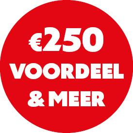 meer dan € 250 voordeel