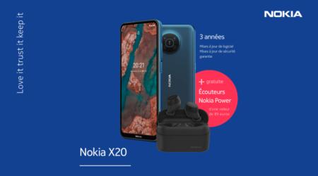 Nokia X20 - Écouteurs Power gratuites