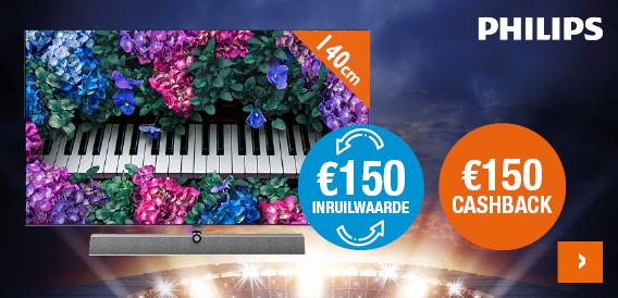 €150 inruilwaarde Philips tv