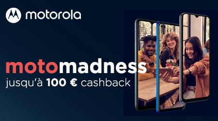 Motorola - Jusquà €100 cashback