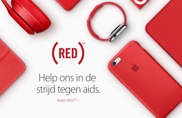 rode collectie van iPhone: strijd tegen aids