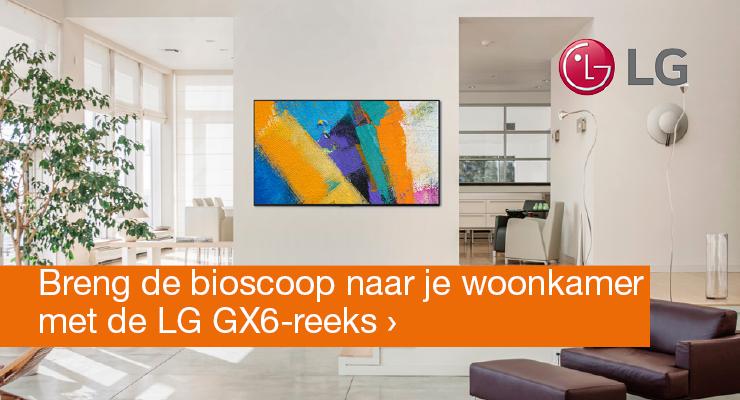 Breng de bioscoop naar je woonkamer met de LG GX6-reeks
