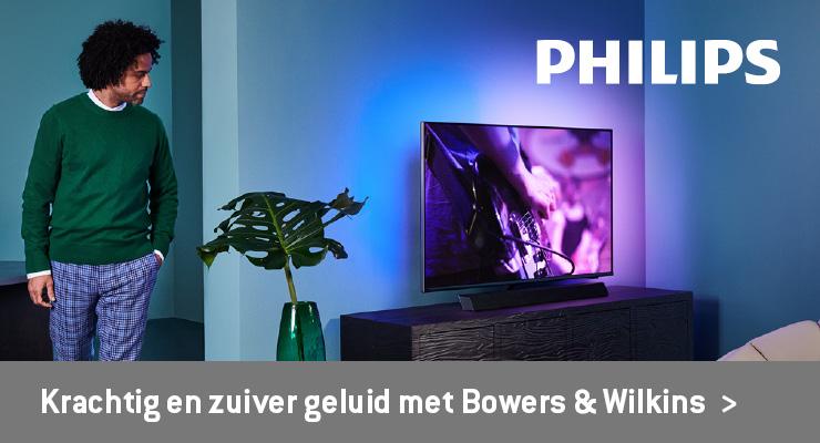 Philips krachtig en zuiver geluid met Bowers & Wilkins