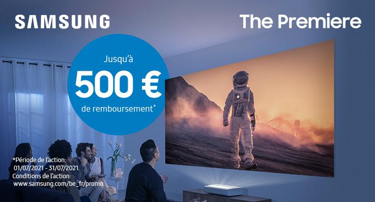 Samsung The Premiere jusqu'à 500 € de remboursement
