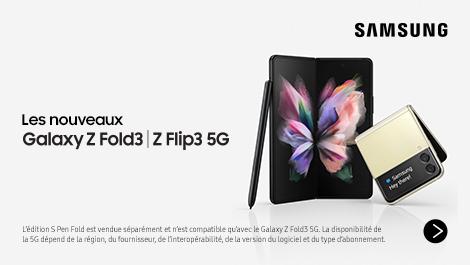Les nouveaux Galaxy Z Fold3 en Z Flip3