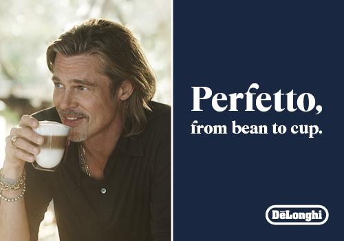 Brad Pitt, l'ambassadeur de Delonghi