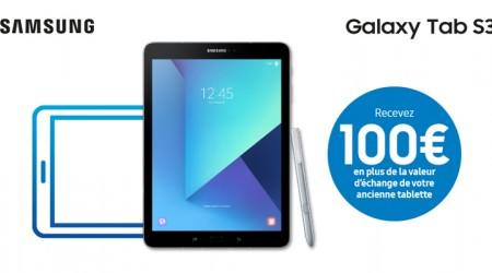 Samsung Galaxy Tab S3 - Promo de recyclage