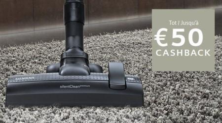 Siemens - Tot €50 cashback op stofzuigers