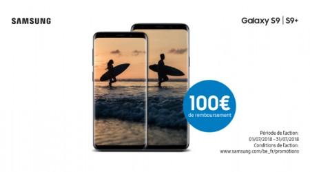 Samsung Galaxy S9 ou S9+ - €100 cashback